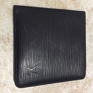 LV Louis Vuitton Black Wallet